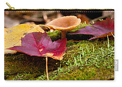 Fallen Leaves And Mushrooms Carry-all Pouch