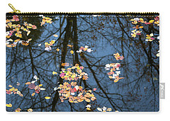 Fallen Leaves In Autumn Lake Carry-all Pouch