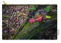 Carry-all Pouch featuring the photograph Fallen Leaves On The Limberlost Trail by Lori Coleman