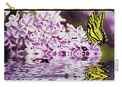 Fallen Lilacs Carry-all Pouch by Diane Schuster