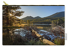 Carry-all Pouch featuring the photograph Fallen Tree At Sprague Lade by Tim Stanley
