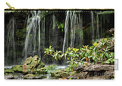 Falling Falls In The Garden Carry-all Pouch by Iris Greenwell