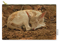 Carry-all Pouch featuring the photograph Fallow Deer Fawn Sleeping by Chris Flees