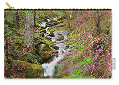 Falls Accented In Pink Carry-all Pouch