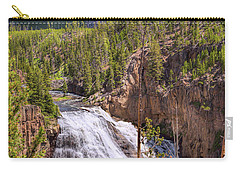 Carry-all Pouch featuring the photograph Falls Of The Gibbon by John M Bailey