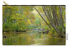 Carry-all Pouch featuring the photograph Falls Road Bridge Over The Gunpowder Falls by Donald C Morgan