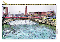 Carry-all Pouch featuring the photograph Fallswalk And Shot Tower by Brian Wallace