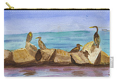 Carry-all Pouch featuring the painting Falmouth Mass by Donna Walsh