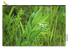 Carry-all Pouch featuring the photograph False Solomon Seal by Ann E Robson