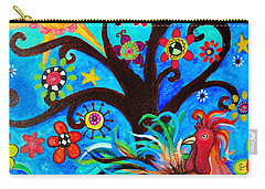 Carry-all Pouch featuring the painting Family And New Traditions by Pristine Cartera Turkus