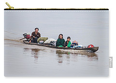 Family Boat On The Amazon Carry-all Pouch by Allen Sheffield