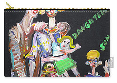 Carry-all Pouch featuring the painting Family Day by Fabrizio Cassetta
