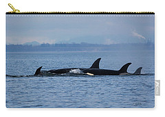 Carry-all Pouch featuring the photograph Family Life's Greatest Blessing - Wildlife Art by Jordan Blackstone