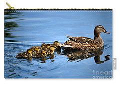Family Swim Carry-all Pouch by Deb Halloran