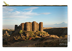 Famous Amberd Fortress With Mount Ararat At Back, Armenia Carry-all Pouch