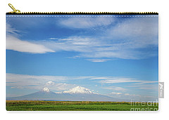 Famous Ararat Mountain Under Beautiful Clouds As Seen From Armenia Carry-all Pouch