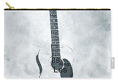 Famous Guitarists Typography Cool Carry-all Pouch by Dan Sproul
