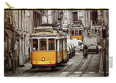 Famous Yellow Trams Of Lisbon Portugal  Carry-all Pouch