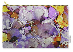 Carry-all Pouch featuring the painting Fanburst Ink #3 by Sarajane Helm