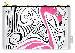 Fanciful Flamingo Carry-all Pouch