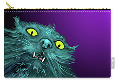 Carry-all Pouch featuring the painting Fang Dizzycat by DC Langer
