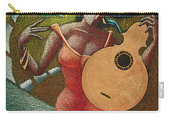 Carry-all Pouch featuring the painting Fantasia Boricua by Oscar Ortiz