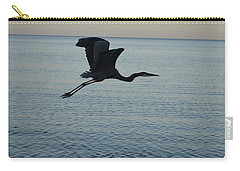 Fantastic Flying Great Blue Heron Carry-all Pouch by DejaVu Designs