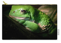 Carry-all Pouch featuring the photograph Fantastic Green Frog by Jean Noren