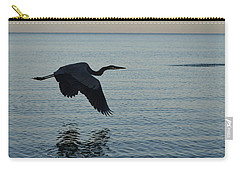 Fantastic Heron In Flight Over The Ocean Carry-all Pouch by DejaVu Designs