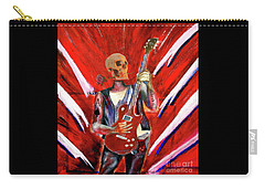 Fantasy Heavy Metal Skull Guitarist Carry-all Pouch