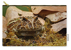 Carry-all Pouch featuring the photograph Fantasy - Horned Frog by Nikolyn McDonald