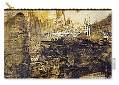 Carry-all Pouch featuring the painting Fantasy In Sepia by Nancy Kane Chapman