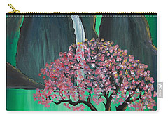 Carry-all Pouch featuring the painting Fantasy Japan by Jacqueline Athmann