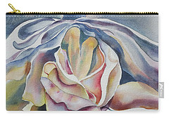 Carry-all Pouch featuring the painting Fantasy Rose by Mary Haley-Rocks