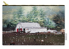 Carry-all Pouch featuring the photograph Farm Life by Darren Fisher