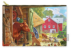 Farm Scene In America Carry-all Pouch