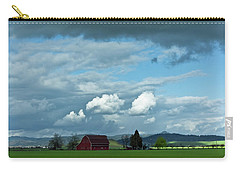 Carry-all Pouch featuring the photograph Farm Under The Sky by Adria Trail