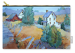 Farm With Blue Roof Tops Carry-all Pouch