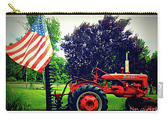 Farmall And Flag Carry-all Pouch