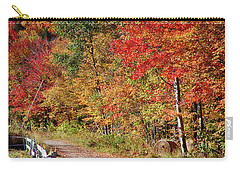 Carry-all Pouch featuring the photograph Farmers Path Of Fall Colors by Jeff Folger