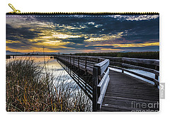 Carry-all Pouch featuring the photograph Farmington Bay Sunset - Great Salt Lake by Gary Whitton