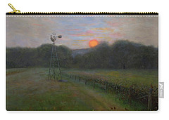 Carry-all Pouch featuring the painting Farmland Peace by Nancy Lee Moran