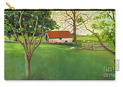 Carry-all Pouch featuring the painting Farmland Scene by Marlene Book