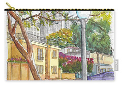 Farola In Roxbury Park, Beverly Hills, California Carry-all Pouch