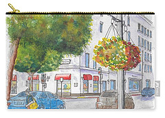 Farola With Flowers In Wilshire Blvd., Beverly Hills, California Carry-all Pouch