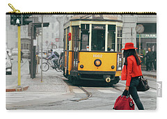 Fashionista In Milan, Italy Carry-all Pouch