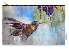 Fast Fuchsia Checkout Carry-all Pouch by Lisa Kaiser