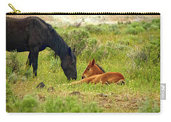 Father And Son Horse Love Carry-all Pouch