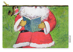 Father Christmas And Robin Chorus Carry-all Pouch by Stanley Cooke