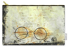 Carry-all Pouch featuring the photograph Father's Glasses by Claire Bull